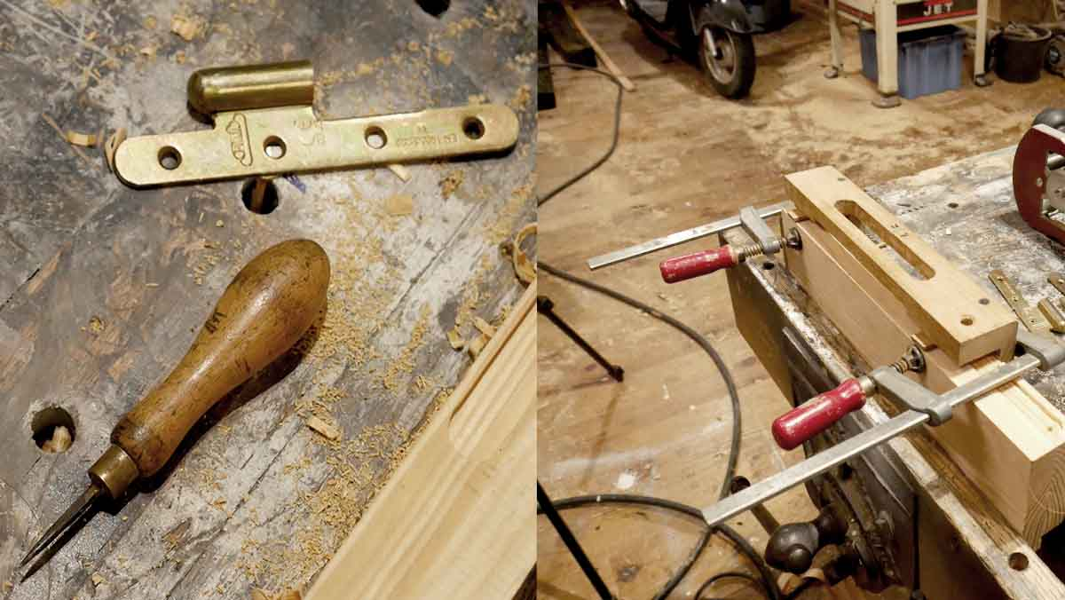 how to fit hinge with router
