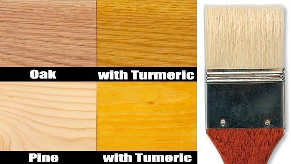 turmeric wood stain