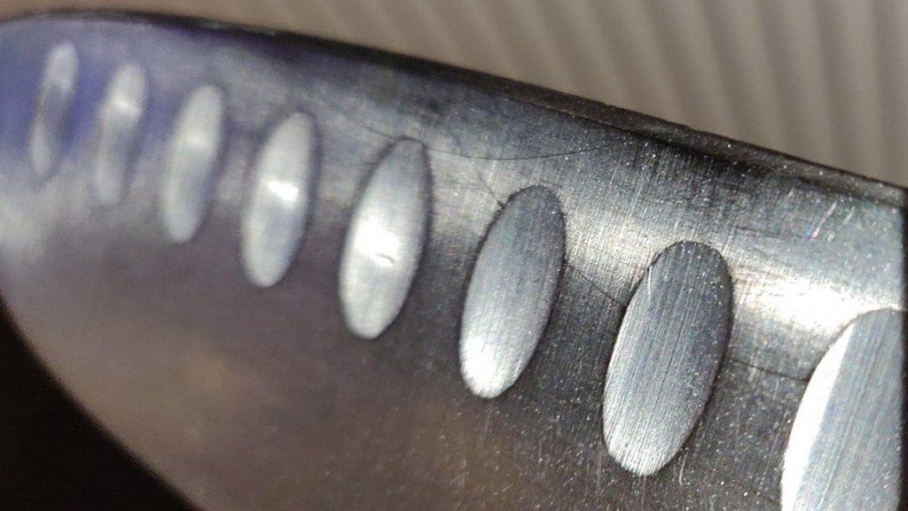 close up of knife edge