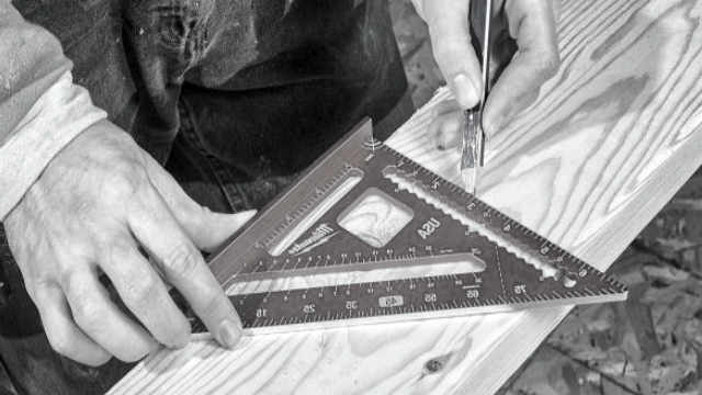 speed square for roofing carpenters