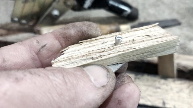 mushroomed pop rivet